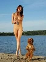 Belka naked walk in the beach
