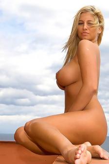 Jenny McClain Nude On The Terrace