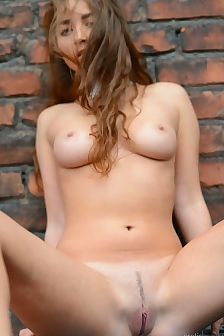 Ruzanna Naked On The Terrace