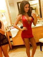 hot red tight dress