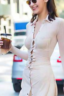 Bella Hadid In See Through Bra & Shirt